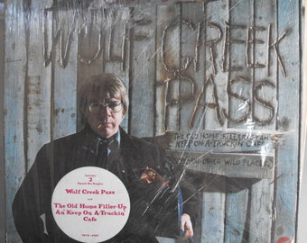 C.W. McCall, Wolf Creek Pass, Vintage Record Album, Vinyl LP, Classic Country Trucking Music, A-Truckin' Cafe, Outlaw Country Songs