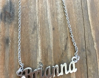 Brianna Personalized Necklaces in Silver