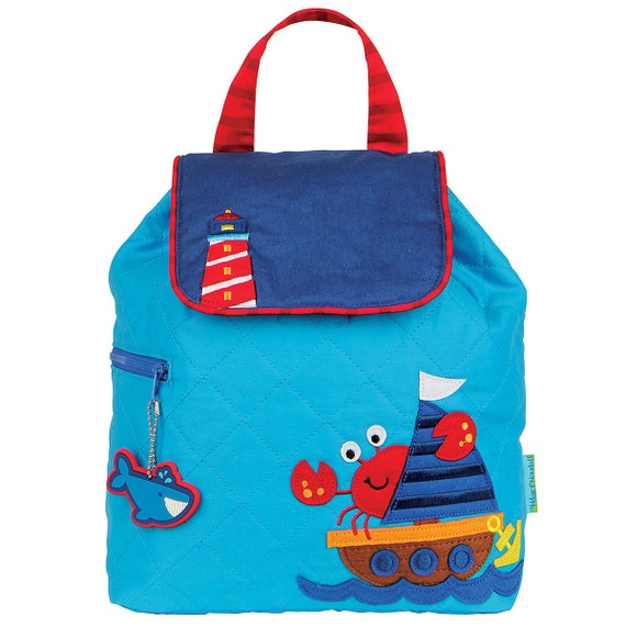 Nautical Stephen Joseph Toddler Backpack, Personalized Nautical Backpack, Kids Quilted Backpack, FREE PERSONALIZATION
