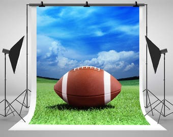 American Football Field Yardline Photography Backdrops Blue Sky Green Grass Photo  Backgrounds for Sport Stadium Studio Props