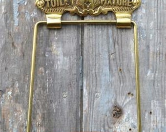 Antique solid brass Victoria toilet fixture toilet roll holder wall mounted SSBV