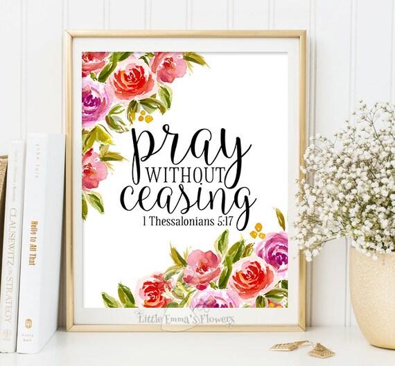 Bible verse art pray without ceasing printable for Pray without ceasing coloring page