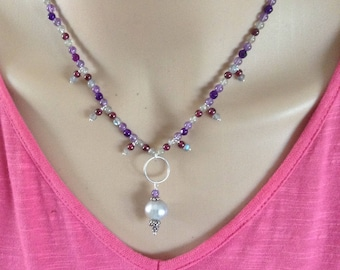 Pearl and Gemstone Necklace