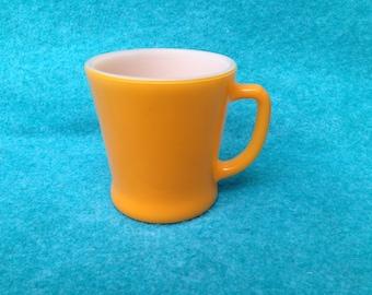 Fire-King Glass Fired-On Colors Standard D-Handled Mug Orange