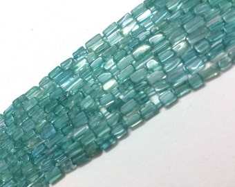 Sky apatite rectangle smooth loose gemstone beads, apatite square shape 3x5mm-4x10mm(approx)