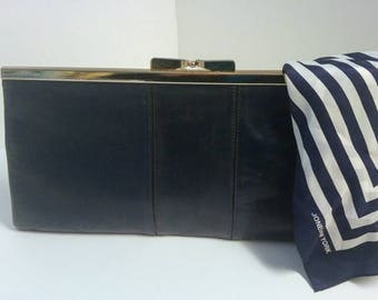 Vintage Philippe Navy Blue Clutch Purse