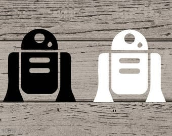 R2-D2 Inspired Decal, Star Wars Decal, R2-D2 Yeti Sticker, R2-D2 Decal, R2-D2 Vinyl Decal, R2-D2 Sticker