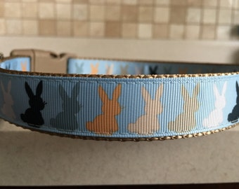 Hares some Bunnies Large and Medium Dog Collar