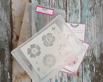 Cookie stencil storage, A5 stencil box, plastic storage box, cake tools store, sugarcraft storage, craft supplies box, stencil genie storage