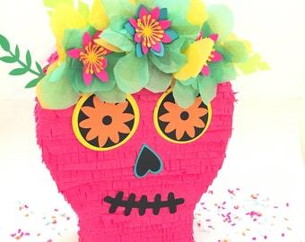 """Sugar Skull Pinata, DIa de Los Muertos, Card Box, Day of the Dead, Mexican Fiesta, Decoration, Centrepiece, Mexican Wedding, Calavera, 12"""""""