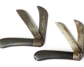 Two Vintage Pruning Penknives