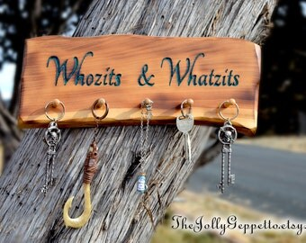 Necklace Hanger, Magical Carved Whozits and Whatzits Jewelry Organizer, Necklace Holder, Little Mermaid Sign, Jewelry Display, Disney Decor