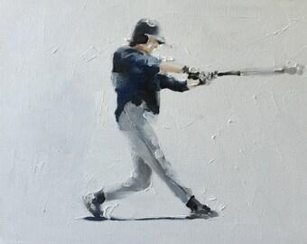 Baseball Painting Baseball Art Baseball PRINT Baseball Player - Art Print - from original painting by J Coates