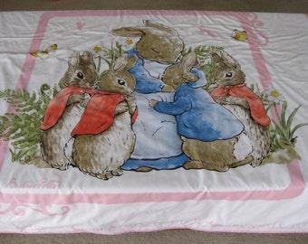 Baby Girls Quilt, Beatrix Potter Cot Quilt, Baby Cot Quilt