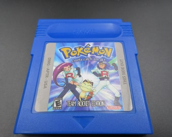 Nintendo GBA Gameboy Advance Pokemon Go Team Rocket version  edition charizard Venusaur Blastoise card Save works! Free Shipping Color