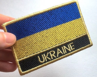 Ukraine Flag Embroidered Patch
