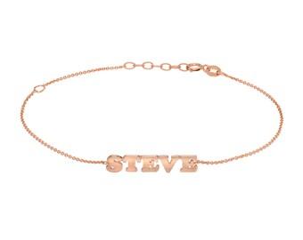 14k gold name bracelet
