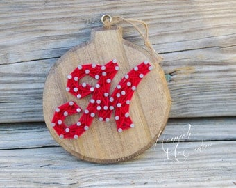 Personalized Christmas Ornament String Art, Handmade Christmas Ornament, Wood Christmas Ornament, Christmas Tree Decorations