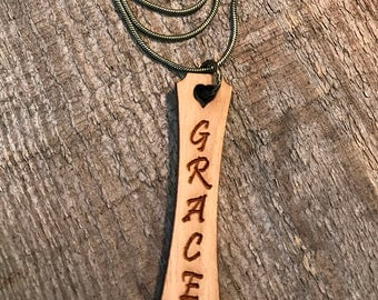 Grace Quote Necklace, Group Discounts, Wedding Gifts, Laser Engraved Quote, Customized Jewelry