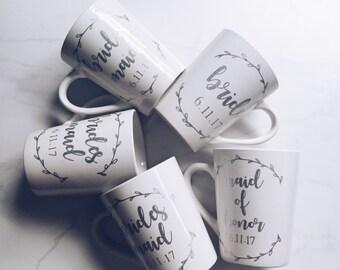 Maid of Honor mug // MOH Mug // Maid of Honor Coffee Cup // bridesmaid mug //