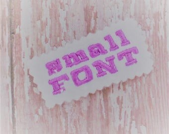 Machine Embroidery Font - Embroidery Letters Font - Tiny Embroidered Letters - Embroidery File