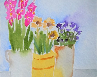 Flower Stand Watercolor Notecard