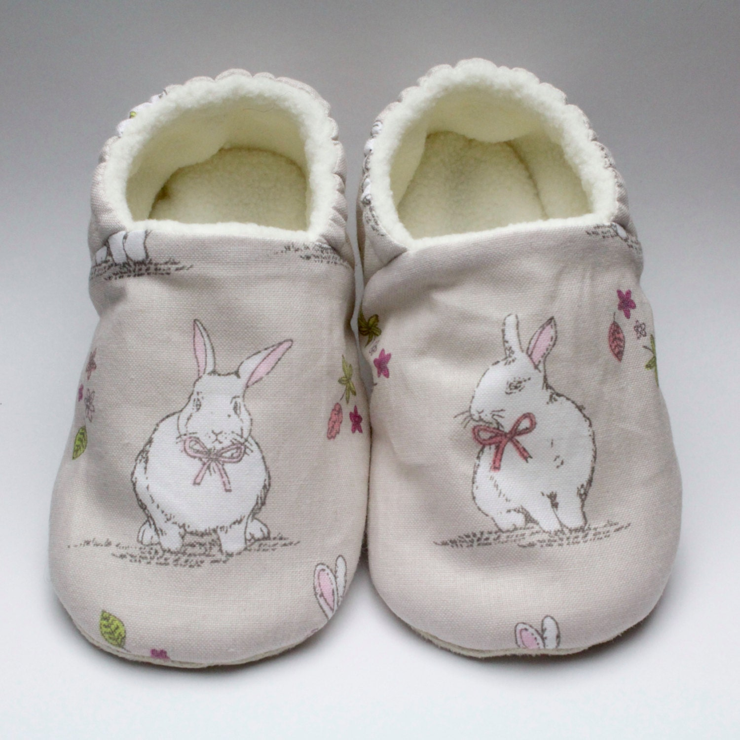 Soft sole cute little bunny baby shoes crib shoes slip on