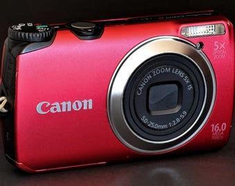 Canon PowerShot A3300 IS Digital Camera 16MP w 5-25mm f/2.85.9 Zoom Lens MiNTY !