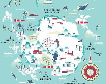 Antarctik pop map, world map, Antarctik map