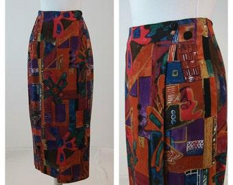 80s vintage sarong skirt. Judy Knapp skirt. XS - S skirt.
