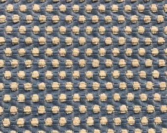 Small Dot - Textured - Blue Dot - St Simmon - Upholstery Fabric by the Yard