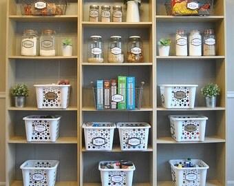 PDF: Pantry Labels, Printable Organization Labels, Pantry Organization, Kitchen Labels, Kitchen - Instant Download