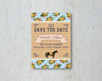 Race Horse Save the Date Card or Magnet