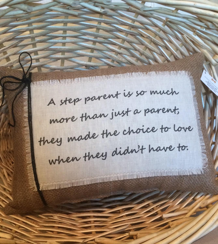 Step Parent Love Quotes Quotestep Parent Pillow Step Mom Gift Decorative