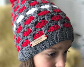 Valentine's Day Puppy Love Crochet Hat