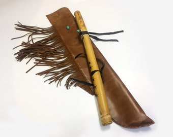 Handmade native american flute case/ Native American Flute Bag / handmade flute case