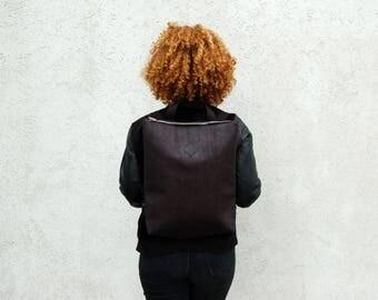vegan backpack, cork backpack black, black backpack, cork bag, vegan bag, cork leather, vegan leather, black leather