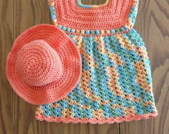 Girl Dress w/ Matching Hat