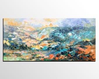 Abstract Art, Canvas Art, Dining Room Wall Art, Abstract Mountain Painting, Abstract Art, Large Art Painting, Canvas Painting, Modern Art