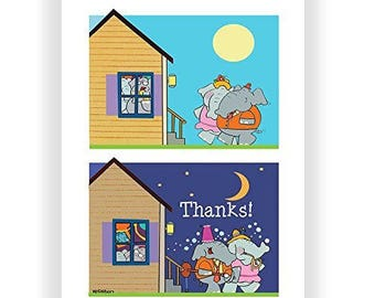 It Was a Blast - Funny Thank You Card - Single Thank You Card - 5x7 Greeting Card - 11051-1