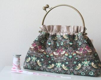 Liberty of London Strawberry Thief Metal Frame Purse // Top Handle Handbag // Gift for her