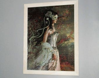 Framed Art - Lady in White Finished Puzzle
