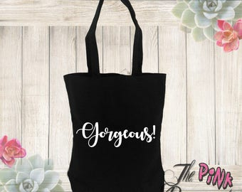 Gorgeous Farmhouse Mom Baby White Bag Black Diaper Canvas Tote Grocery shopping purse handbag Girlfriend Sister Best Friend Gift Gifts