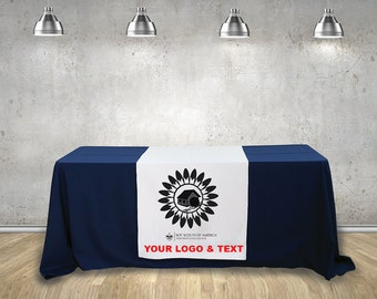 Custom table Runner  ( Using your Text and logo ) Free Design By Bannerbuzz