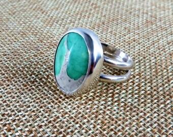 Variscite Sterling Ring   (Size 7.5)
