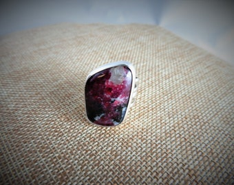 Eudialyte Sterling Ring  (Size 9)