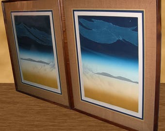 Pair of Quality Framed 1970s Gathering Storm I II 189/200 35 x 28 Panin-Russian