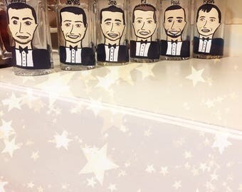 Charicature Beer Steins - Groomsman Gifts - Best Man Gifts - Bachelor Party Beer Steins of Cartoon Portraits. Bridal Party Gifts.