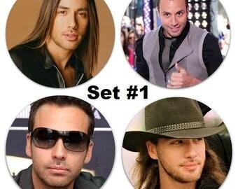 "Set of 4 Howie Dorough Large 2.25"" Pinback Buttons or Magnets - Choose Your Favorite Set BSB Backstreet Boys"