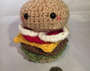 Amigurumi Cheeseburger Crochet Figure